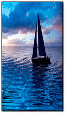 قارب في البحر