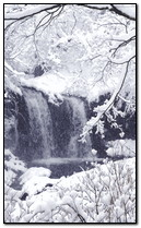 Winter Wasserfall