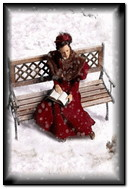 Girl At Snow Reading