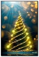 闪闪发光的圣诞树