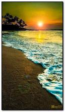 Mer au coucher du soleil