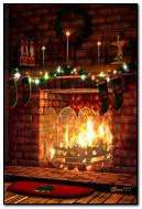 크리스마스 벽난로