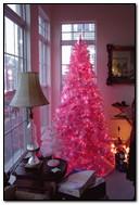 गुलाबी ख्रिसमस ट्री