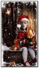 크리스마스 어린 소녀