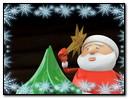 Santa Claus Decorates A Christmas Tree