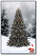 वन मध्ये ख्रिसमस ट्री