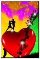 jantung yang berwarna-warni