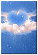 Animasyonlu Mavi Kalpler n Bulutlar