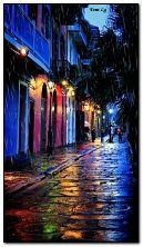 Stadt regnerisch