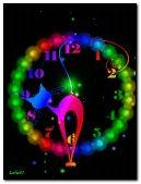 Rainbow neon cat