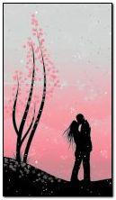 粉红色的吻