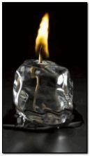 氷の上での火