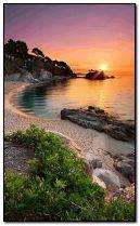 sunset and coast