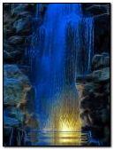 blue waterfall
