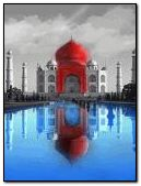 Red Taj Mahal
