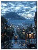 Rain in night city