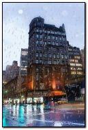 La pluie dans les rues