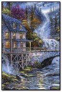 O velho moinho no riacho