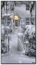 Maison dans la neige