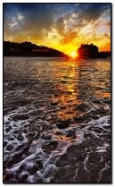 Wieczorny zachód słońca