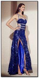 파란 드레스