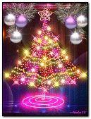 Neon fir-tree