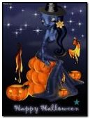 Animated Halloween Pisces Witch