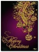 merry xmas gold