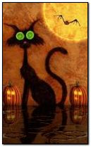 Happy halloween magic cat