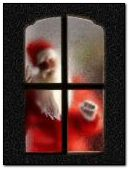 Santa at the door