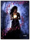 Fantasy Girl Goddess of the Forest in Moon night for my dear friend Arpit