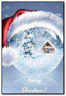 Merry christmas globe