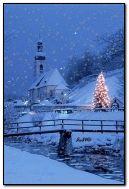 クリスマスの霜降りの冬の夜