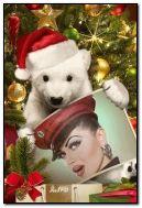 หมีซานตาขอให้คุณมีความสุขกับวันคริสต์มาส