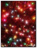 Christmas lights shine