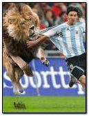 messi y el leon