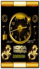 neon animated nokia battery clock