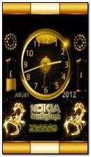 neonowy zegar z baterią nokia