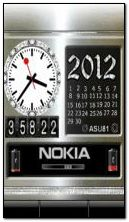 animated nokia battery clock