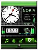 NEON NOKIA BATTERY CLOCK