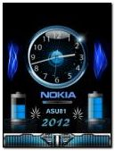 animayed nokia battery clock
