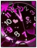 Animated pink clock