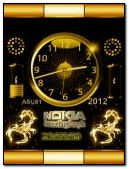 animated nokia gold clock