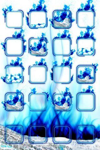 Shelf Blue Fire