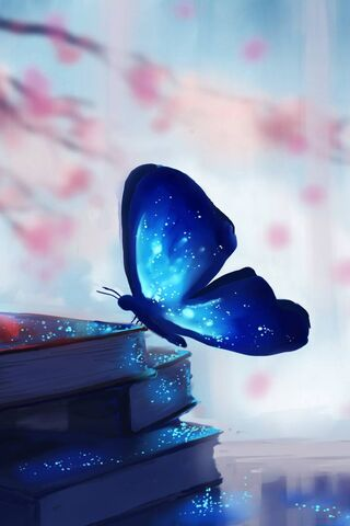 पुस्तके आणि फुलपाखरू