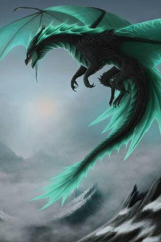Con rồng màu xanh lá cây