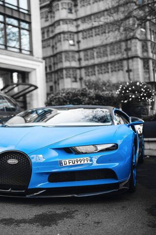 Blue Bugatti Chiron Wallpaper Download To Your Mobile From Phoneky