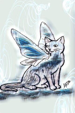Fairy Cat Blue