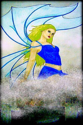 Goth Angel Fairy Art