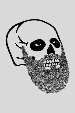 Skull Bearded